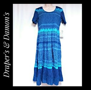 Draper's & Damon's Blue Smocked Top Dress  Size PM